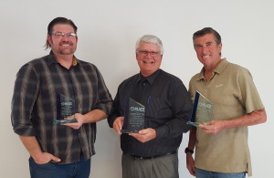 PAACE board members (from Left) Josh Savino, Jim Lotts, and Hal Collett were recognized for their years of service at the PAACE Coalition awards luncheon in December, 2015. Josh Savino has served for 5 years, Hal Collett for 10 years, and Jim Lotts for 15 years!
